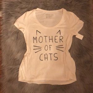 Mother of cats short sleeve tee